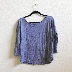 Athleta quarter sleeve linen top